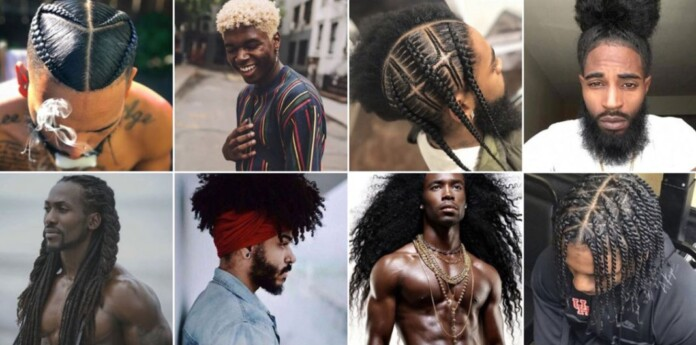 Black men hairstyles traditionally associated with women and girls