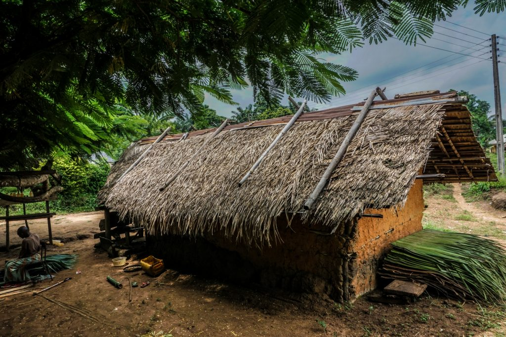 Gay conversion therapy mud hut beside a river (nigeria)