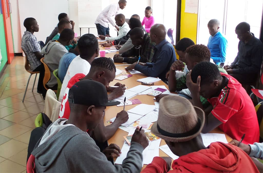Group work sessions at ishtar msm community centre.